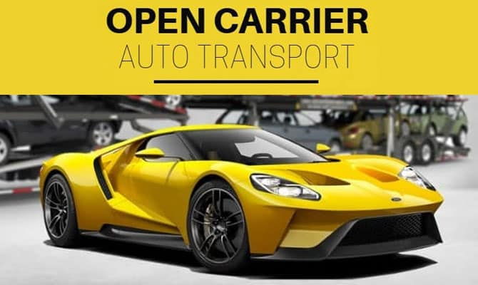 We offer open carrier auto transport services.